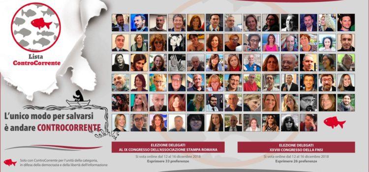 Un voto ControCorrente per il sindacato giornalisti nel Lazio